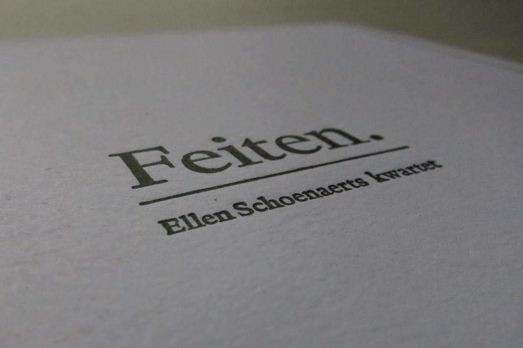 Feiten. | Ellen Schoenaerts kwartet